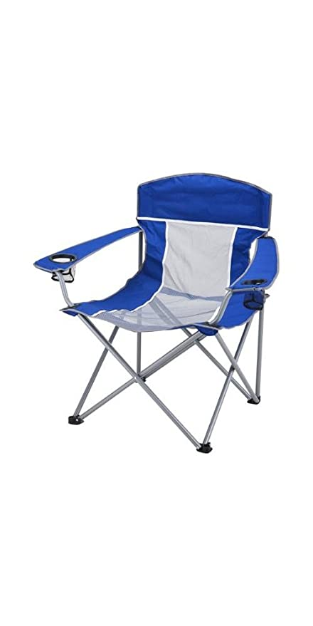 Amazon Com Ozark Trail 500 Lb Xxl Comfort Mesh Chair Blue Grey