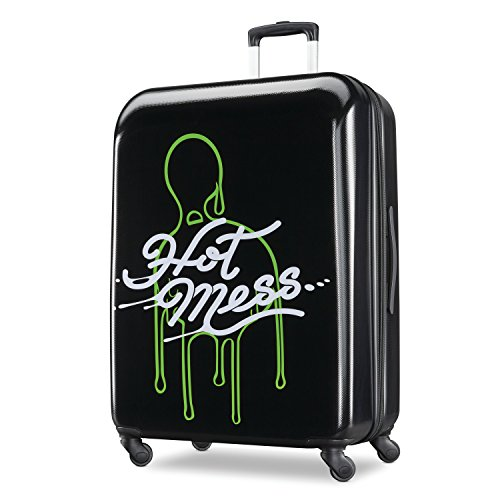 Carry-On 21-Inch American Tourister Nickelodeon Hardside Luggage with Spinner Wheels Black//Green