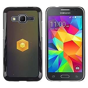 LECELL--Funda protectora / Cubierta / Piel For Samsung Galaxy Core Prime -- Cubo simple --