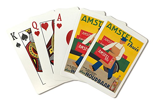 amstel-vintage-poster-artist-wijga-netherlands-c-1930-playing-card-deck-52-card-poker-size-with-joke
