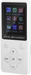 with MP4 Music Player, Mini MP3, Built-in 13 Languages, You can Switch Between Multiple Plug and Play Modes Such as Music, Radio, Recording, Video, e-Book and More.(Golden)
