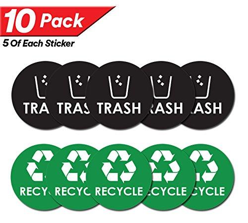 Recycle Trash Bin Logo Sticker product image