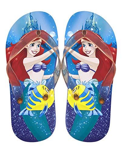 Disney Kids Girls Boys Flip Flops Sandals Daily Summer Outdoor Play, The Little Mermaid, Toddler 11/12, Color Mermaid