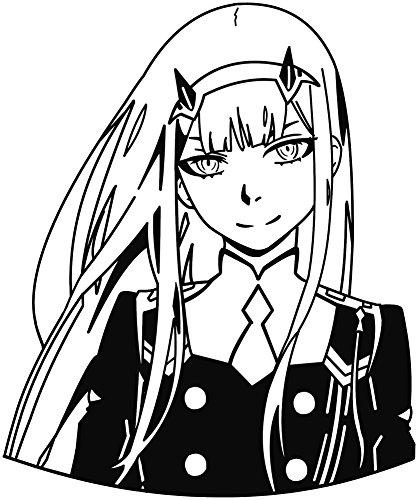 KyokoVinyl Darling in The FRANXX - 002-02 - Zero Two Anime Decal Sticker for Car/Truck/Laptop (6.5