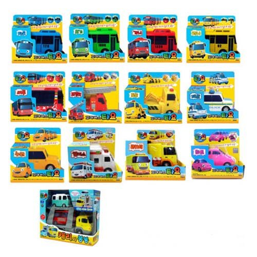 Mimiworld Tayo the Little Bus Main Garage with 15 Cars including Subway Model of Tayo Full Set Toy by Mimi World (Image #4)