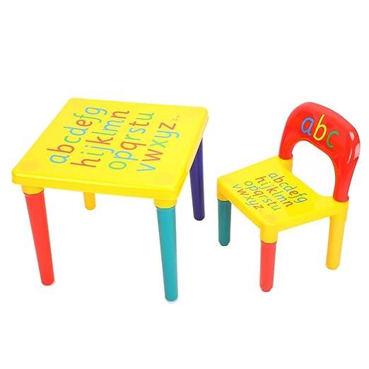 Juego de mesa y sillas para niños, 2 piezas de mesa de letras ...