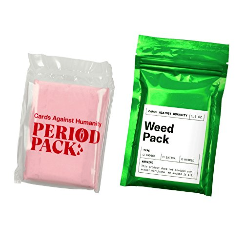 "Cards Against & Humanity ""WEED & PERIOD"" Expansion Packs"