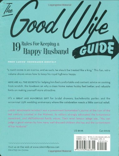 the good wife guide essay Aristotle and the good life own opinion of what makes a good wife aristotle even wrote and essay on his view on to help guide us to a good life.