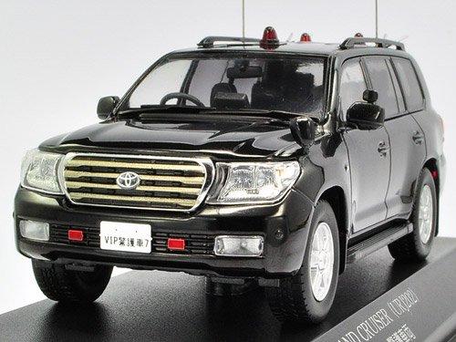 1/43 トヨタ ランドクルーザー URJ202 2010 警察本部警備部要人警護車両 ブラック H7431001