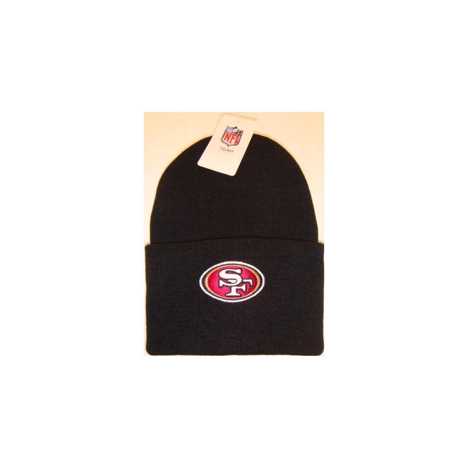 San Francisco 49ers NFL Long Beanie Knit Cap Caps Hat Hats Reebok Team Apparel