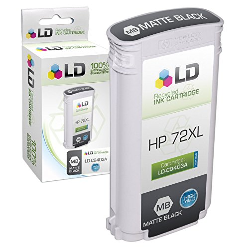 LD Remanufactured Ink Cartridge Replacement for HP 72 C9403A High Yield (Matte Black)
