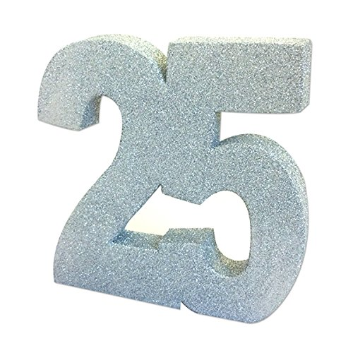 Creative Silver Glitter Table Decoration 25. Size: 20cm. Anniversary, Party]()