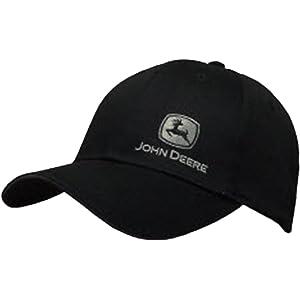 John Deere Black with Silver John Deere Logo Snapback Hat - 13080428BK00