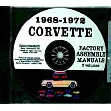 1968 1969 1970 1971 1972 CORVETTE FACTORY ASSEMBLY INSTRUCTION MANUAL CD - ALL MODELS INCLUDING; C-3, Sting Ray, Stingray, Coupe, Hardtop, Convertible - VETTE