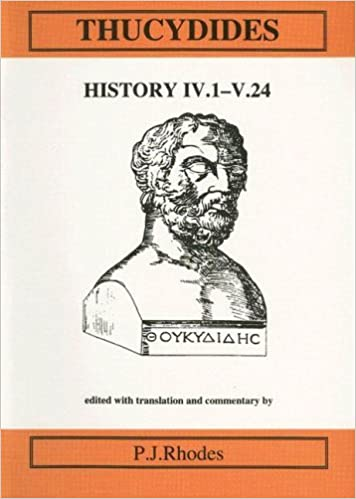 Book Thucydides: History IV.1-V.24: Bk. 4 (Classical Texts) by P. J. Rhodes (1999-01-01)