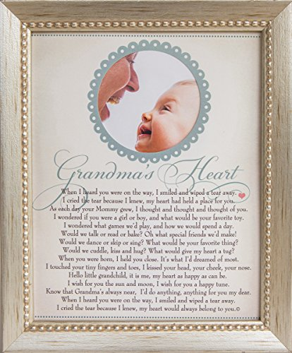 The Grandparent Gift Heart Collection 8x10 Picture Frame, Grandma's Heart Poem
