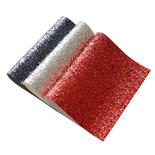 Chunky Glitter Fabric Sheets- 3 Pieces of Assorted Colors 8