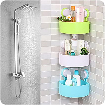 kihika abs plastic bathroom shelf shower holder mounted cosmetic rh amazon in pvc bathroom shelves plastic bathroom shelves white