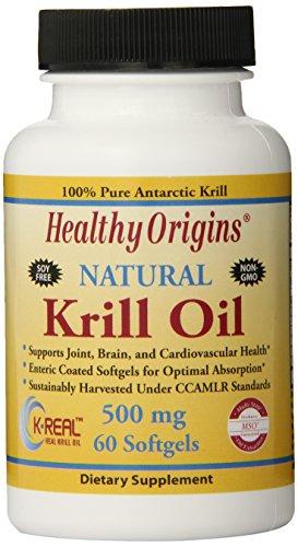 (Healthy Orgins Krill Oil Gels, 500 mg, 60 Count)