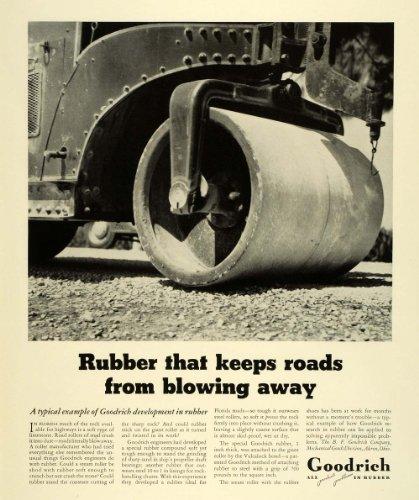 Mechanical Roller Original Design (1941 Ad B F Goodrich Akron Tires Pneumatics Rubbers Vintage Road Roller Vehicle - Original Print Ad)
