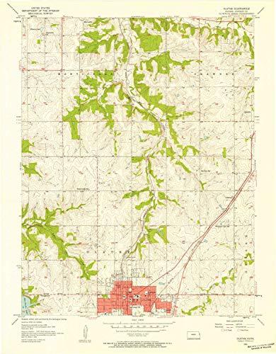 (YellowMaps Olathe KS topo map, 1:24000 Scale, 7.5 X 7.5 Minute, Historical, 1956, Updated 1958, 27.08 x 21.1 in - Tyvek)