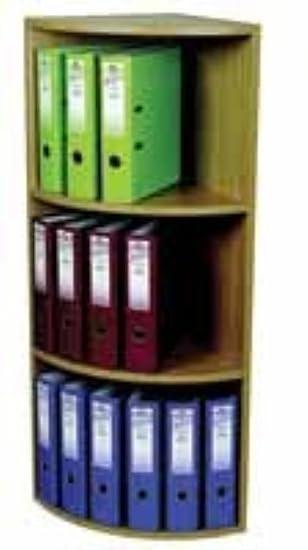 Rotadex - Estantería de esquina de 3 estantes para 18 archivadores de palanca (384 x 1165 mm, madera de roble claro): Amazon.es: Oficina y papelería