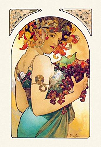 ArtParisienne Fruit Alphonse Mucha 12x18 Poster Semi-Gloss Heavy Stock Paper Print