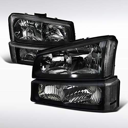 - Autozensation For Chevy Silverado Avalanche Black Clear Headlights+Bumper Signal Lamps