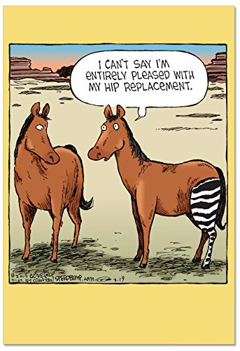 Horse Hip Replacement: Funny Get Well Greeting Card Featuring If All Horses  Were Like Cars, with Envelope  C1770GWG