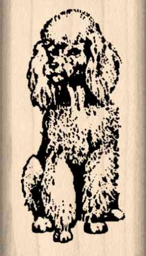 Poodle Rubber Stamp - 1 inch x 1-3/4 inches