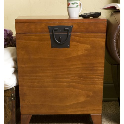 Holly & Martin Dorset Trunk End Table, MISSION OAK ()