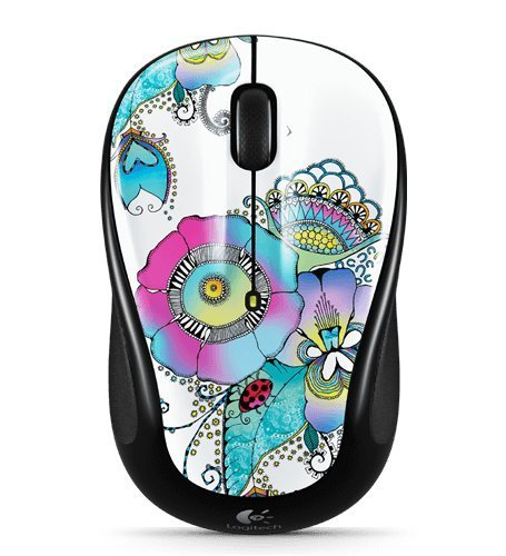 Logitech M317 Lady on The Lily Wireless Mouse - Multicolor ()