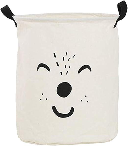Kanggest.Cubo Plegable de Lino y algodón Cesta para la Ropa Sucia ...