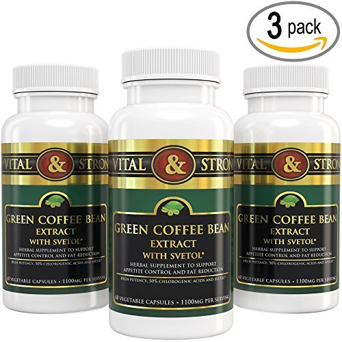 Vital & Strong Green Coffee Bean Extract with Svetol 180 Count by Vital & Strong