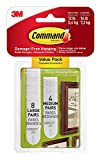 Command Picture Hanging Strips, 8-Large, 4-Medium