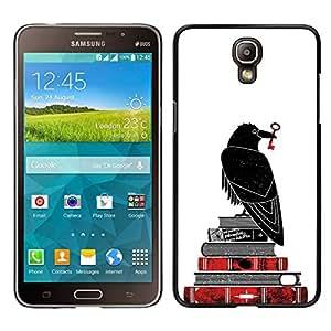// PHONE CASE GIFT // Duro Estuche protector PC Cáscara Plástico Carcasa Funda Hard Protective Case for Samsung Galaxy Mega 2 / White Bible Key Books Reading Deep /