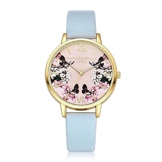 Scpink Mujeres Relojes de Cuarzo, Liquidación analógica patrón de impresión Romano Reloj Digital Relojes de Pulsera Relojes de niña Relojes Femeninos de ...