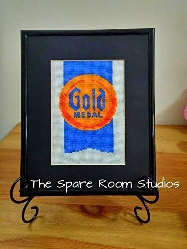 (Completed Cross - Stitch (not framed) Gold Medal Flour - Kitchen Decor **free shipping in the US** Ready to Ship)