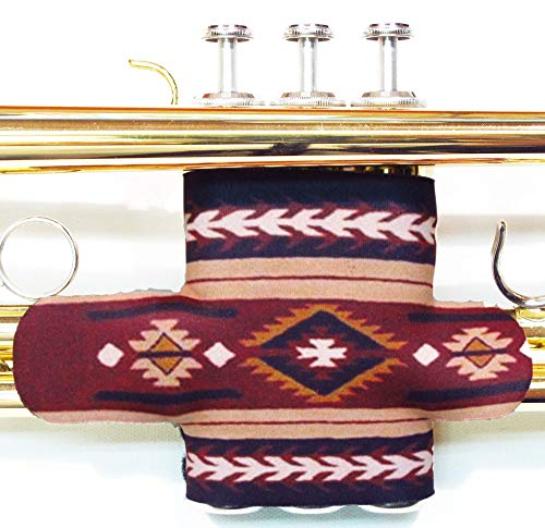 Neoprene Trumpet Valve Guard with hook and loop in over 60 colors and patterns by Legacystraps Navaho Design