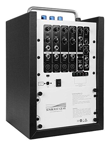 Sunburst Gear M6R8 Portable All-in-One Rechargeable PA Speaker by Sunburst Gear (Image #2)