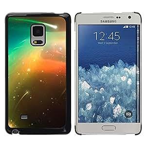 Cosmic Shooting Stars - Metal de aluminio y de plástico duro Caja del teléfono - Negro - Samsung Galaxy Mega 5.8