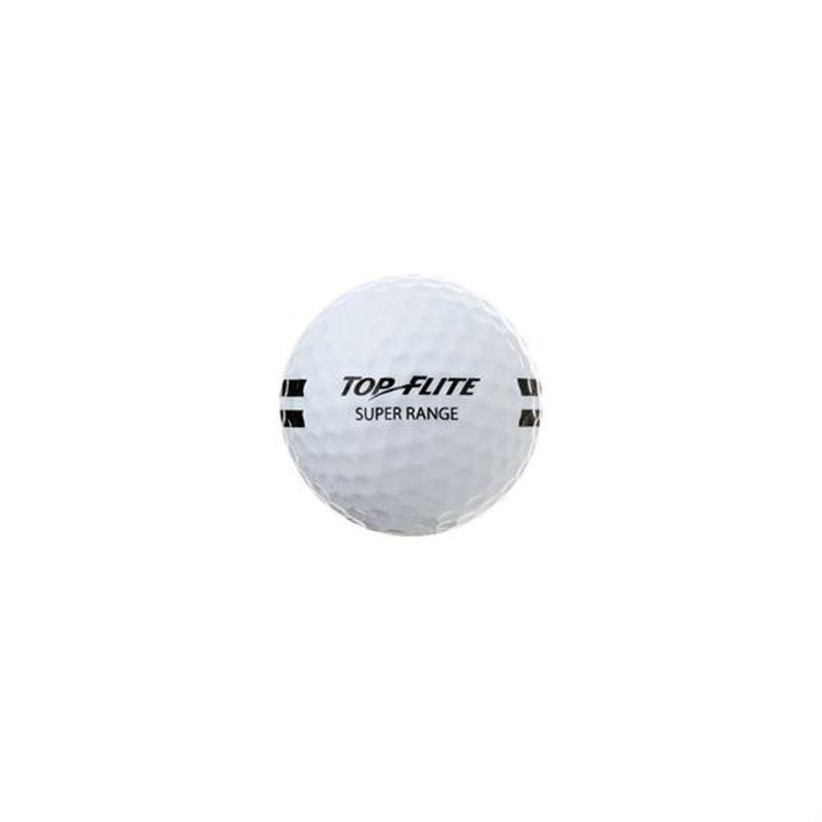 24 Pack Top Flite Super Range Golf Balls - White by Top Flight