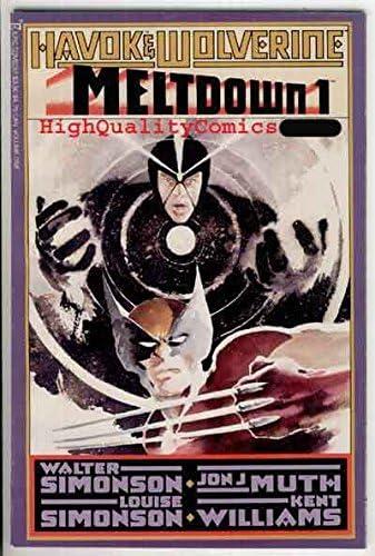 Havok Wolverine Meltdown 1988 series # 1 very fine comic book