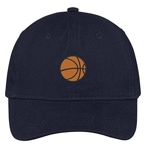 Trendy Apparel Shop Basketball Embroidered Soft Low Profile Cotton Cap Dad Hat - - Hat Basketball Embroidered