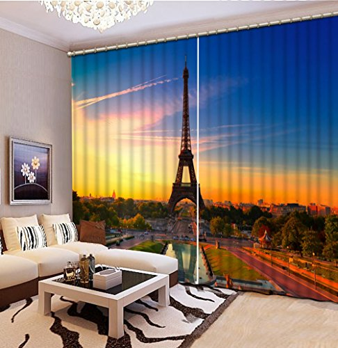 Sproud 3D Printing Curtains Lifelike Blackout Cortians Beautiful Full Light Shading Bedroom Livng Room Curtains 260Dropx300Wide(Cm) 2 pieces by Sproud