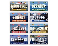 """PLEASE READ !   ♥️ This listing is for ONE Magnet ONLY, not for a set of magnets  ♥️ It is approx. 5"""" x 9""""  ♥️ The magnet will NOT stick to aluminum or stainless steel surfaces.  ♥️ Please check with your cruise line if they allow magnets and..."""
