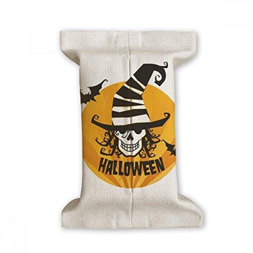 (DIYthinker Skull Marker Wizard Hat Halloween Tissue Paper Cover Cotton Linen Holder Storage Container)