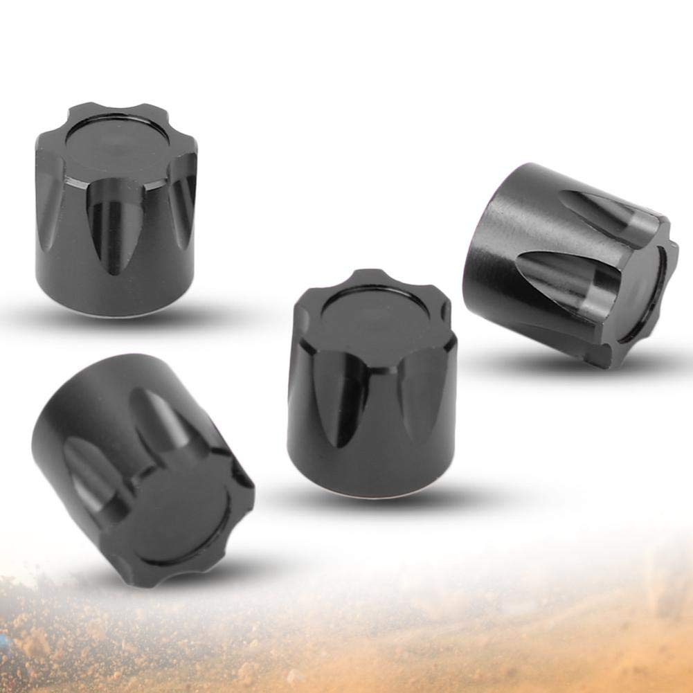 4 Pezzi Tappo Centrale cerchione Alluminio 4 Dadi Dadi Pneumatici per Telecomando 1//10 Modello di Auto Woyisisi Tappo Centrale cerchione RC Nero