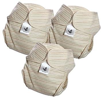 2baa364c23ece Amoroso やわらかコットン 布おむつカバー 自然色 3枚組 セット(グリーン