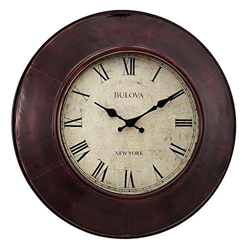 Bulova Watford Wall Clock - Roman Bronze Ring